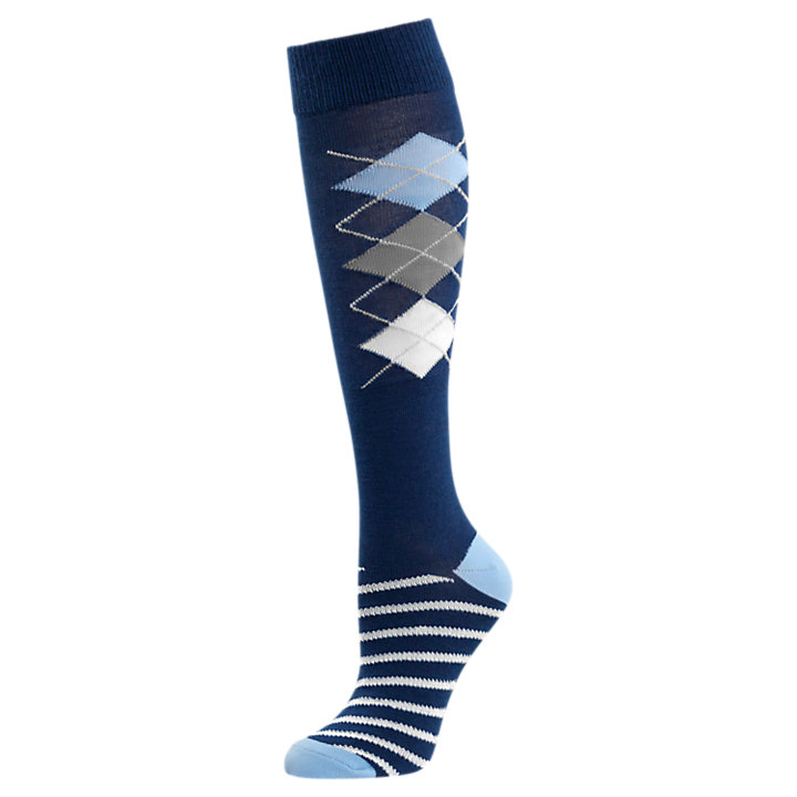Women's Argyle Wool Knee Socks-