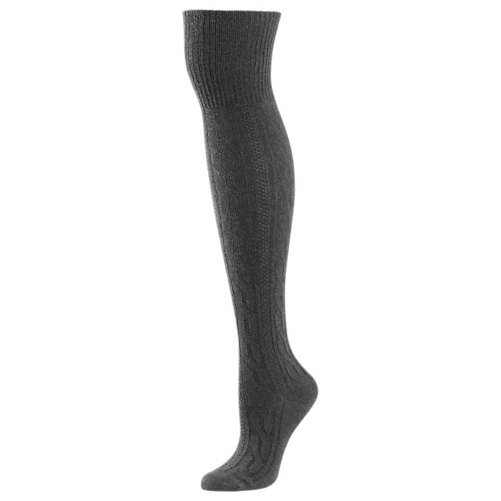 Women's Cable-Knit Knee Socks-