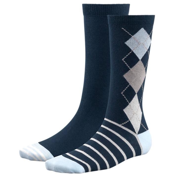Women's Argyle Crew Socks-
