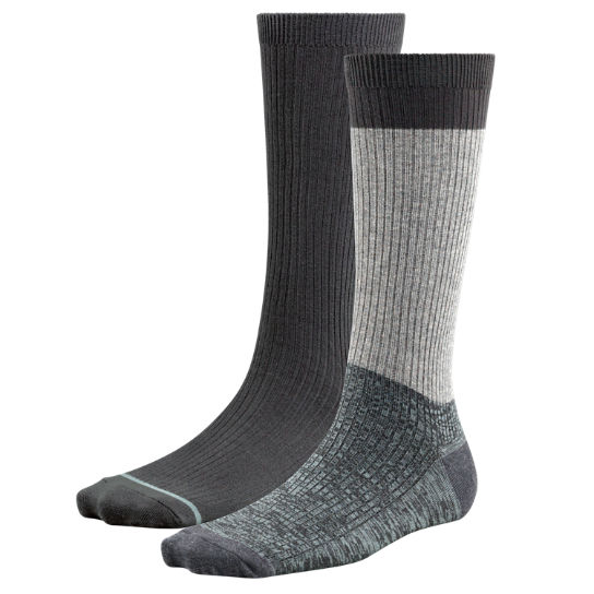 Women's Space-Dyed & Solid Crew Socks (2-Pack)