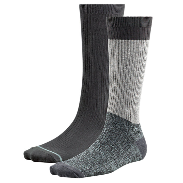 Women's Space-Dyed & Solid Crew Socks (2-Pack)-