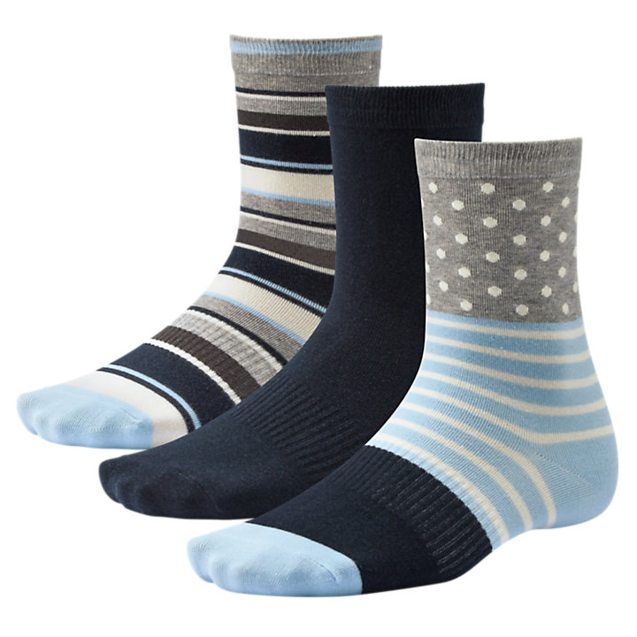 Women's Dots & Stripes Crew Socks (3-Pack)-