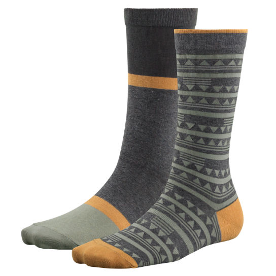 Women's Patterned & Striped Crew Socks (2-Pack)
