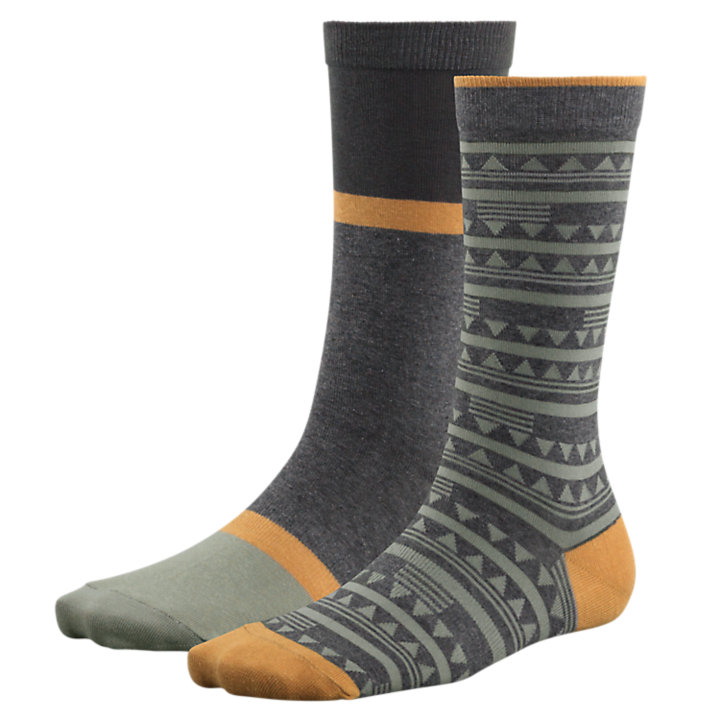 Women's Patterned & Striped Crew Socks (2-Pack)-