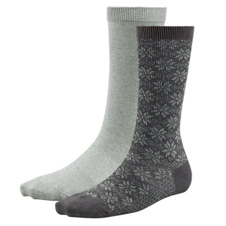 Women's Marled Fair Isle Socks (2-Pack)-