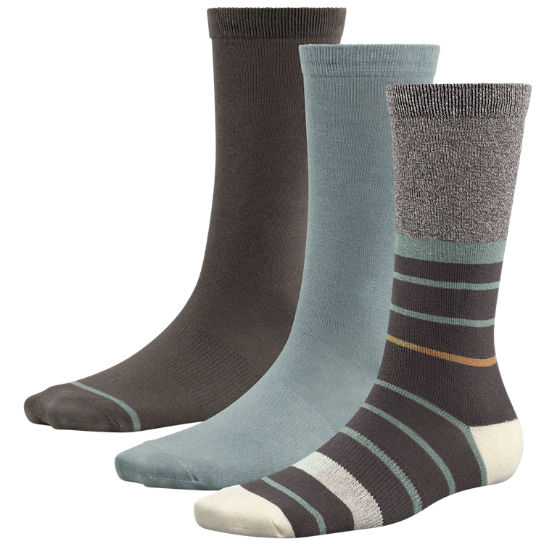 Women's Solids & Stripes Crew Socks (3-Pack)