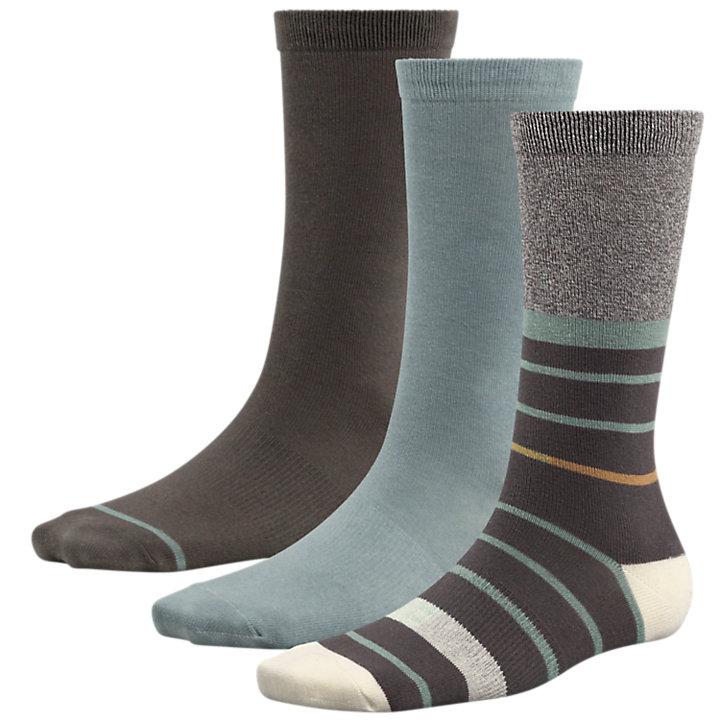 Women's Solids & Stripes Crew Socks (3-Pack)-
