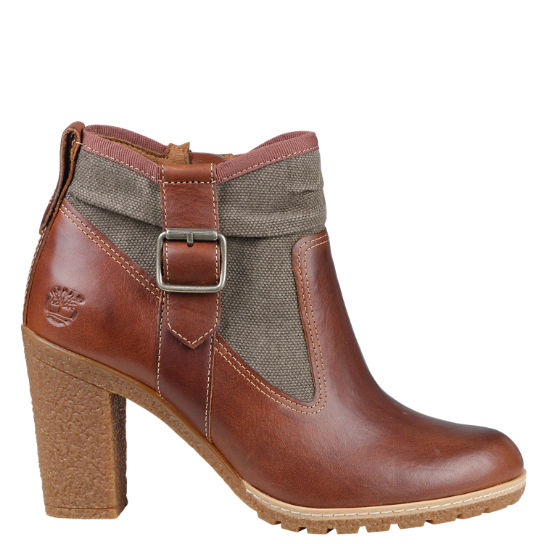 Women's Glancy Mixed-Media Side-Zip Boots