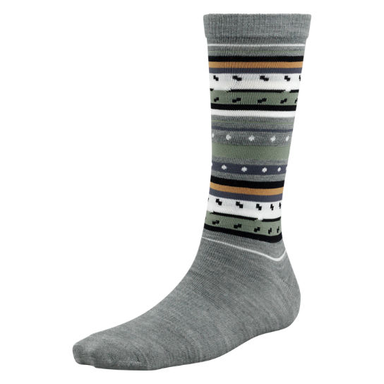 Women's Premium Wool Striped Crew Socks