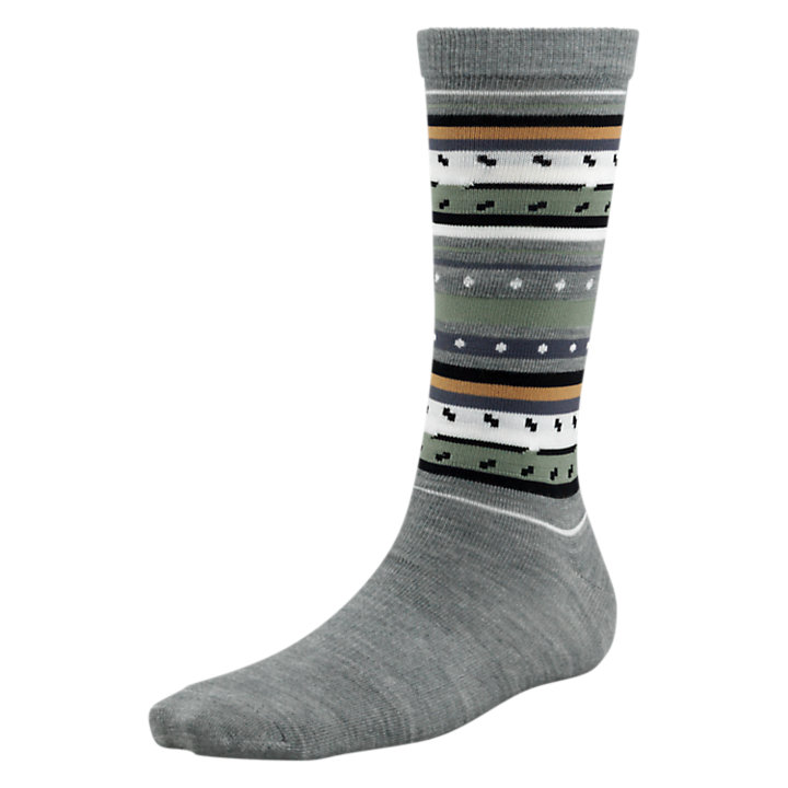 Women's Premium Wool Striped Crew Socks-