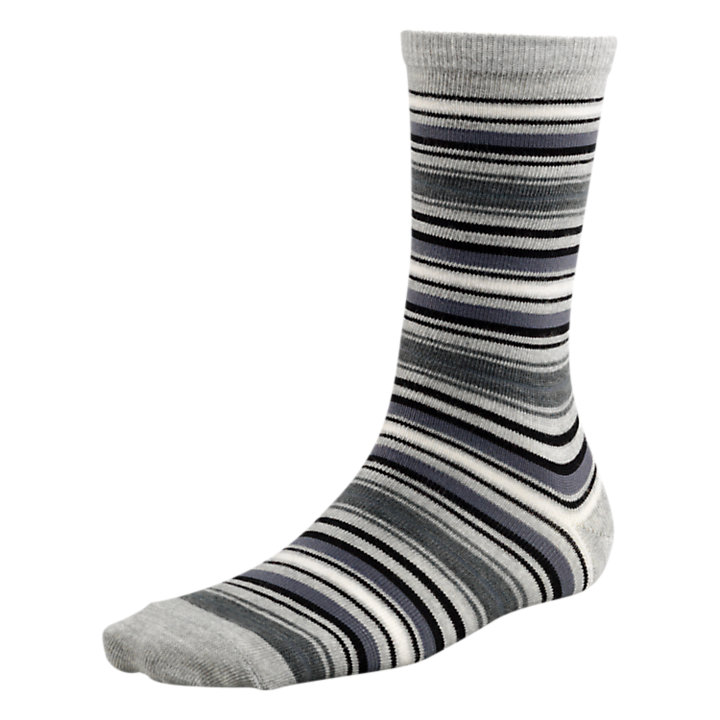 Women's Striped Wool Blend Crew Socks-
