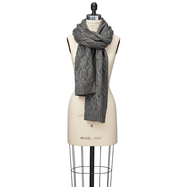 Women's Essential Cable-Knit Scarf-