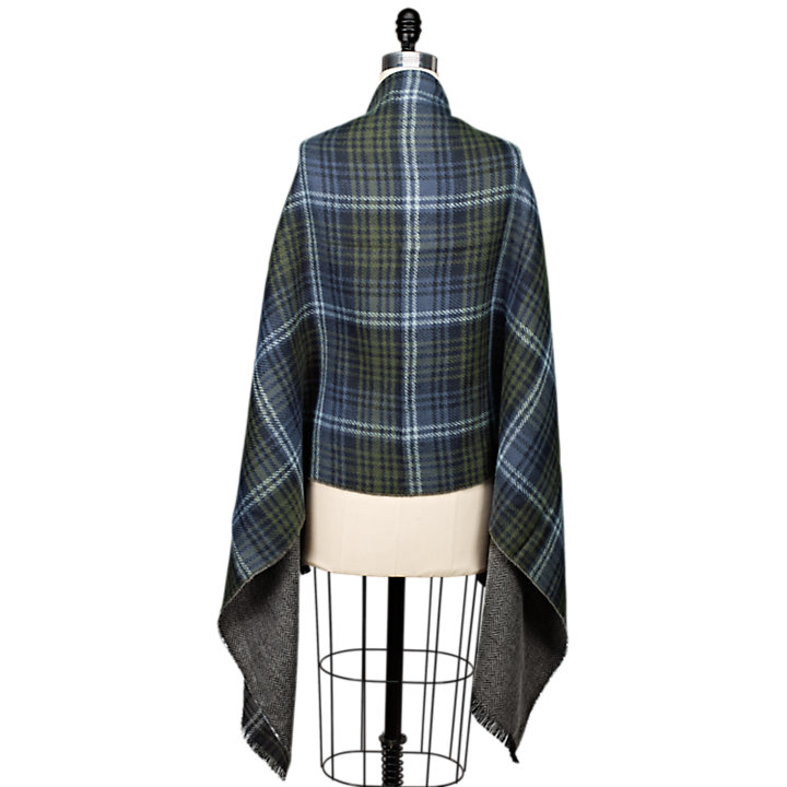 Reversible Plaid/Solid Scarf-