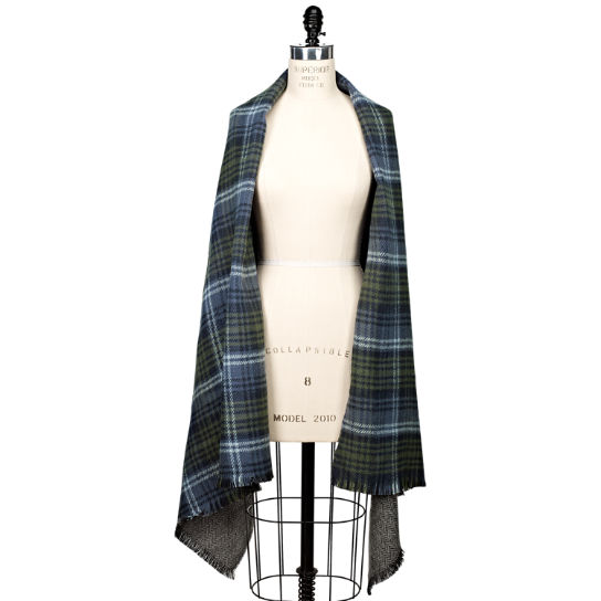 Reversible Plaid/Solid Scarf