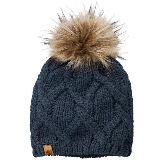 Women s Faux Fur Pom Beanie 3cafd11799
