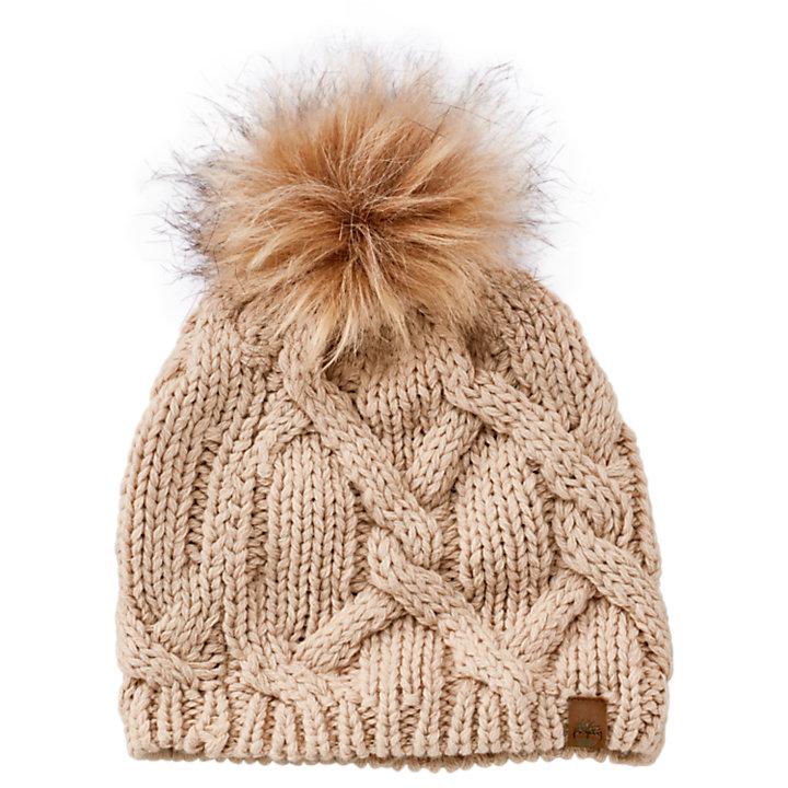 Women's Faux Fur Pom Beanie-