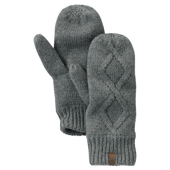 Womens Fleece-Lined Cable-Knit Mittens  Timberland Us Store-1068