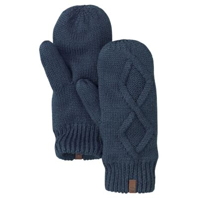 Lined Mittens Knitting Pattern : Timberland Womens Fleece-Lined Cable-Knit Mittens