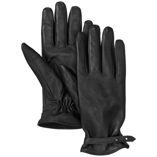 Women's Touchscreen Leather Gloves