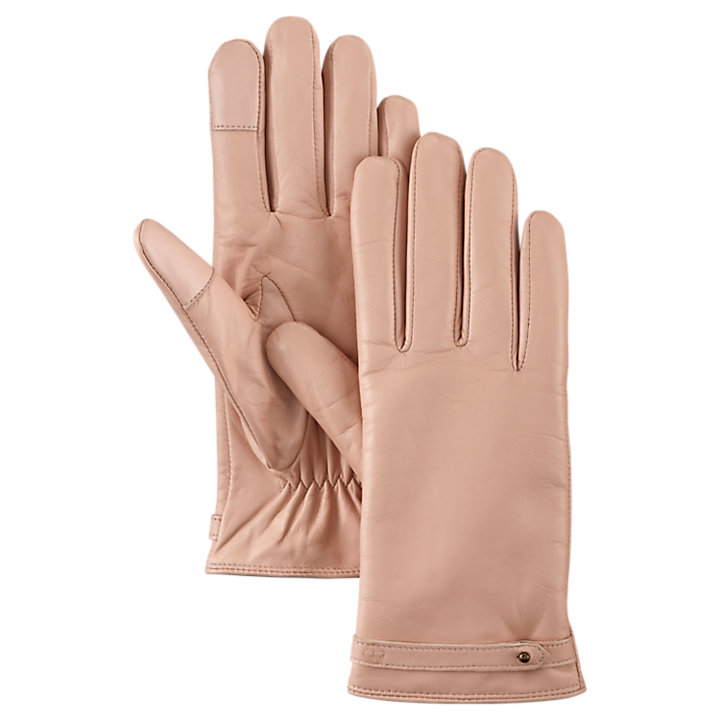 Women's Strappy Leather Gloves-