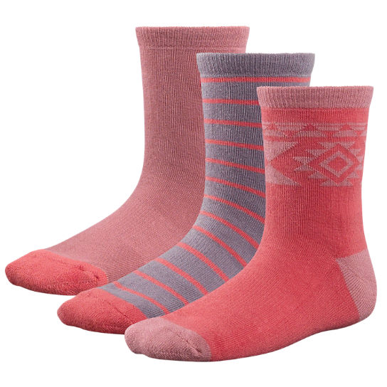 Kids' Patterned Crew Socks (3-Pack)