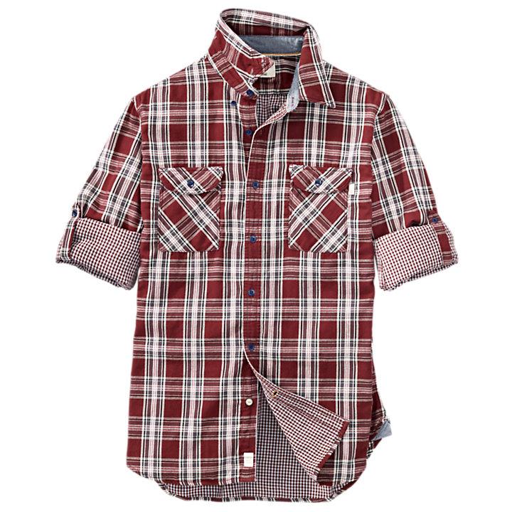 Men's Double-Layer Organic Cotton Plaid Shirt-