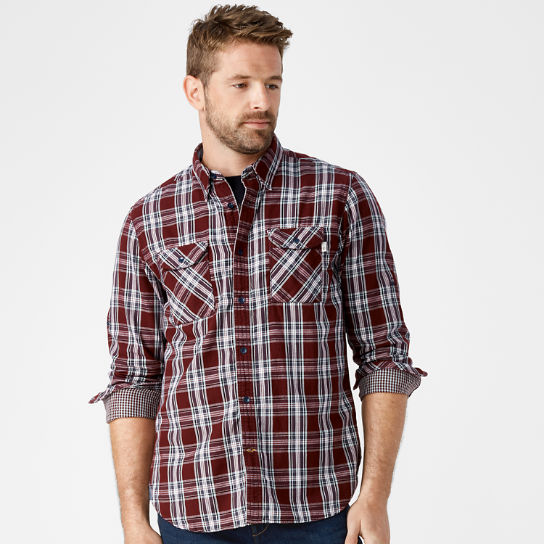 Men's Double-Layer Organic Cotton Plaid Shirt
