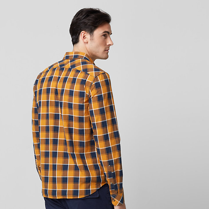 Men's Slim Fit Lightweight Plaid Shirt-