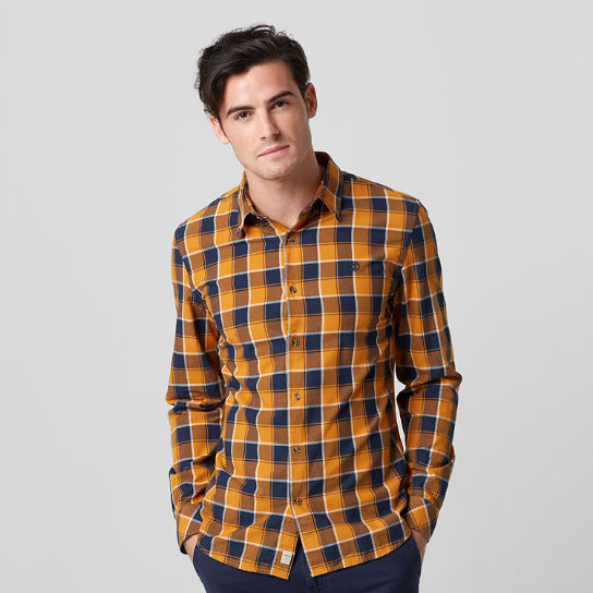 Men's Slim Fit Lightweight Plaid Shirt