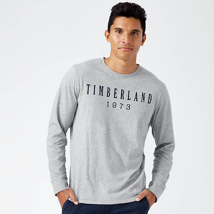 Men's Kennebec River Long Sleeve Linear Logo T-Shirt-