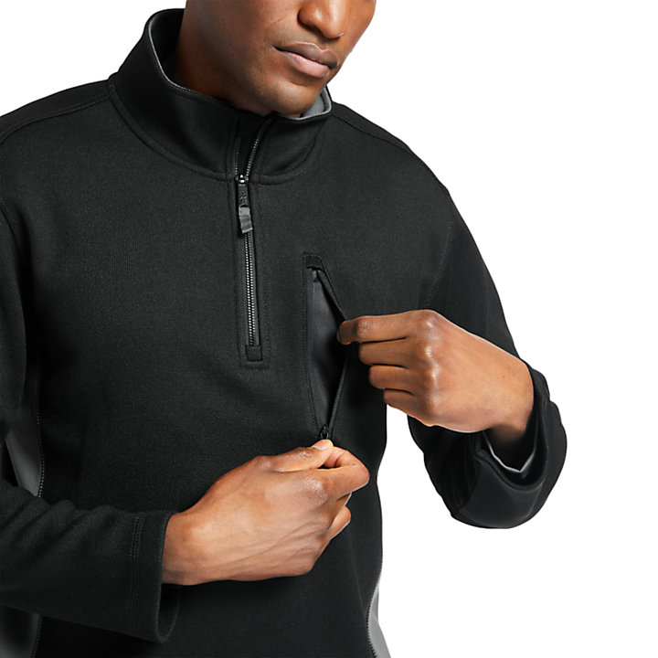 Men's Timberland PRO® Studwall Quarter-Zip Textured Fleece Shirt-