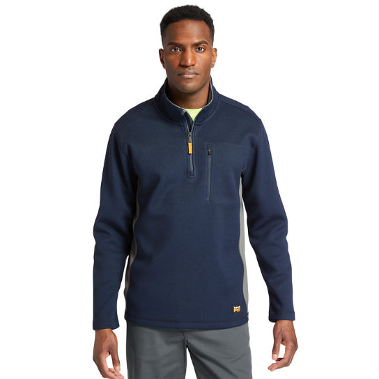 Men's Timberland PRO® Studwall Quarter-Zip Textured Fleece Shirt