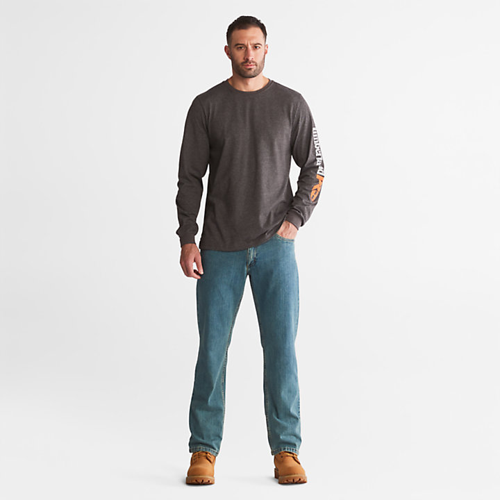 Men's Timberland PRO® Logo Sleeve Base Plate Wicking T-Shirt-