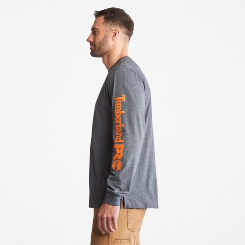 Men's Timberland PRO® Base Plate Long-Sleeve Logo T-Shirt-