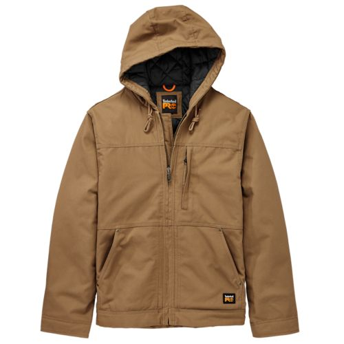 Men's Timberland PRO® Baluster Hooded Insulated Canvas Work Jacket-