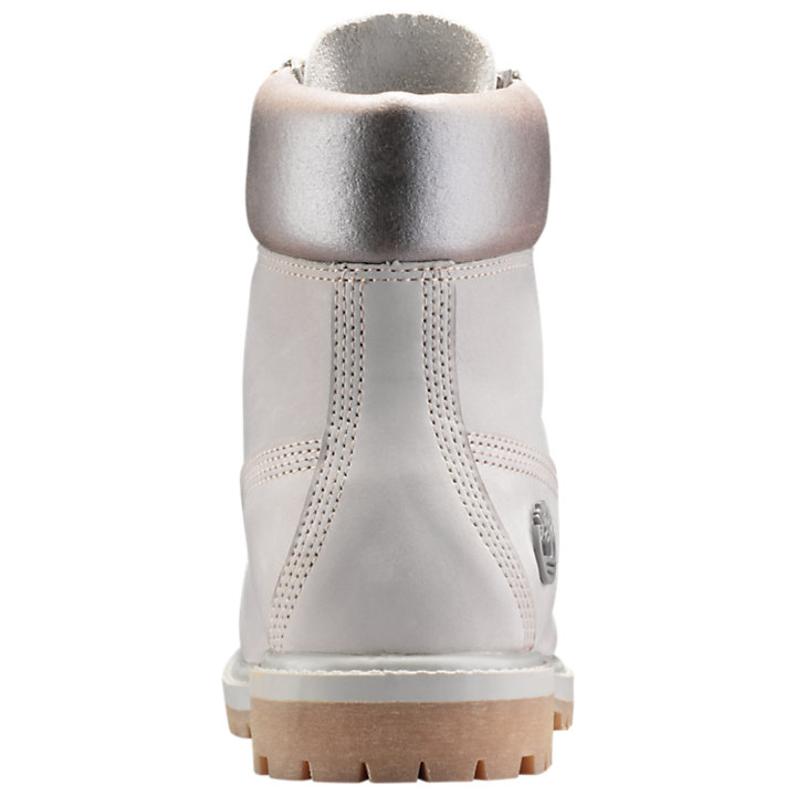 Women's 6-Inch Premium Metallic Collar Waterproof Boots-