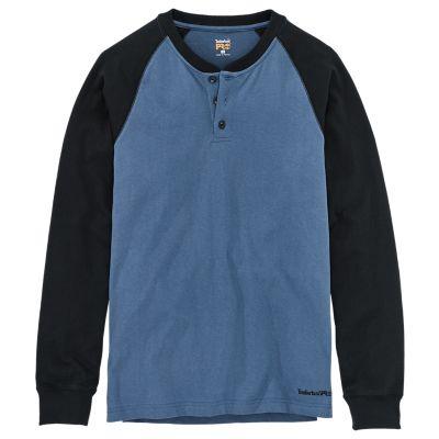 Men's Timberland PRO® Cotton Core Long Sleeve Henley Shirt