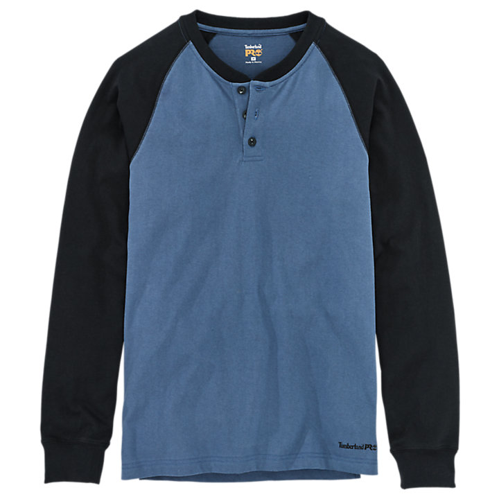 Men's Timberland PRO® Cotton Core Long Sleeve Henley Shirt-