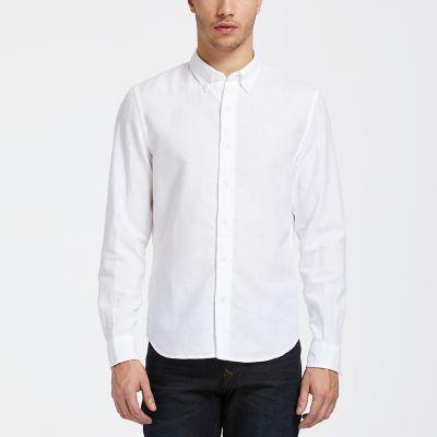 Men's Indian River Slim Fit Solid Linen Shirt