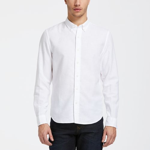 Men's Indian River Slim Fit Solid Linen Shirt-