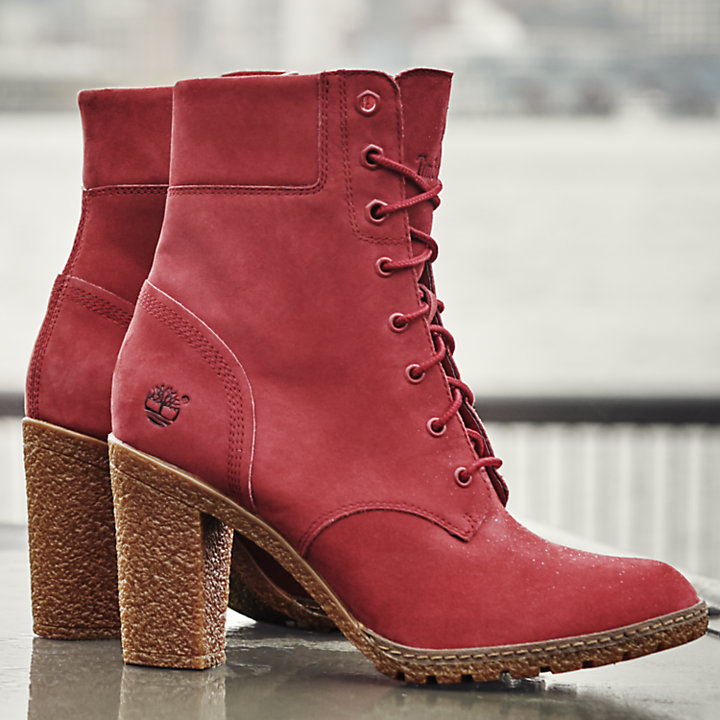 Timberland Glancy 6 Inch Boots in Red