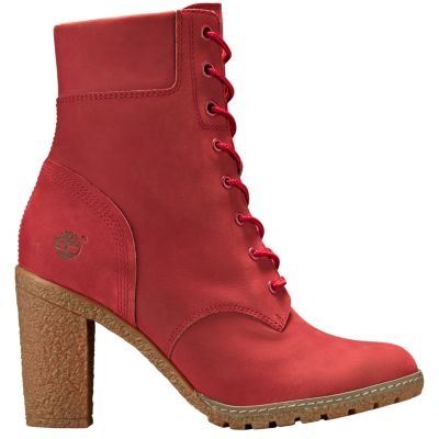 Womens Ruby Red Glancy 6 Inch Boots Timberland US Store
