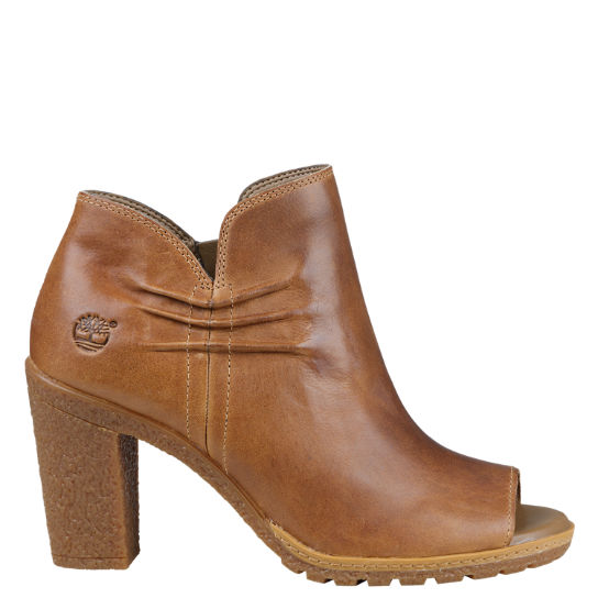 Women's Glancy Ruched Peep-Toe Boots