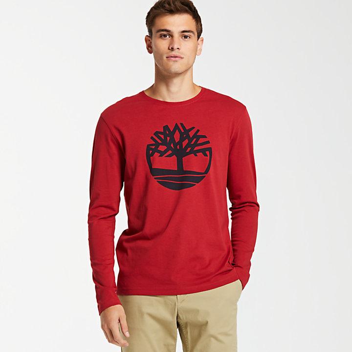 Men's Long Sleeve Tree Logo Ringer T-Shirt-