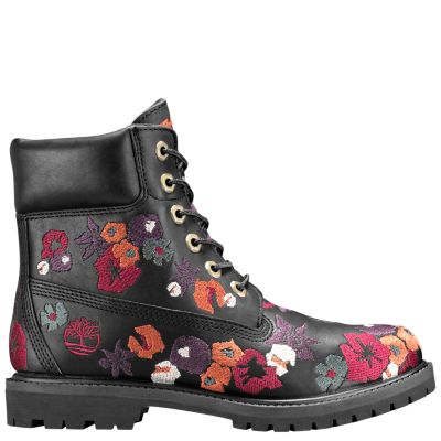 Women S 6 Inch Premium Embroidered Waterproof Boots