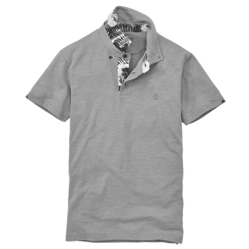 Men's Cooling Slim Fit Tropical Polo Shirt-