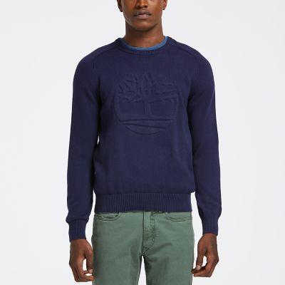 Men's Slim Fit Logo Crew Neck Sweater