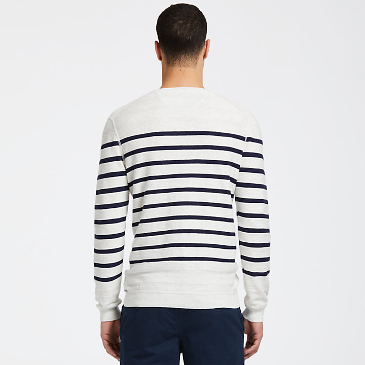 Men's Lightweight Striped Crew Neck Sweater-
