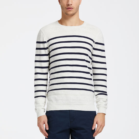 Men's Lightweight Striped Crew Neck Sweater