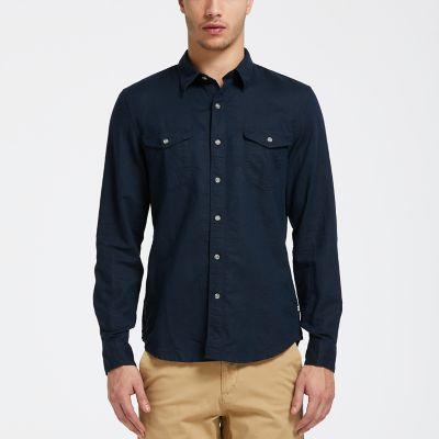 Men's Mill River Slim Fit Linen Cargo Shirt